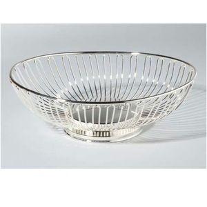 Vintage fruit basket silver plated oval basket
